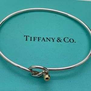 Tiffany & Co.925 18KT Gold Hook Bracelet